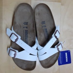 BIRKENSTOCK YAO WHITE SANDALS